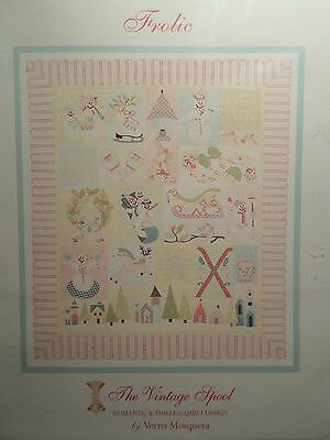 FROLIC AN APPLIQUE QUILT PATTERN, Beauty of Winter From The Vintage Spool NEW