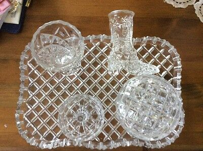 crystal dressing table set has acrystal boot