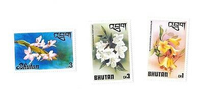 Bhutan / Bhoutan Orchid Issue stamps