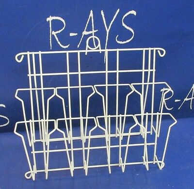 "R-AYS Retail (White) 2 Tier 8 Pockets for 3 1/4"" Wide Note Pad Counter Stand"