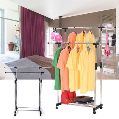 Extra Large Clothes Airer 4 Tier Indoor Outdoor Laundry Dryer Rack Line Foldable