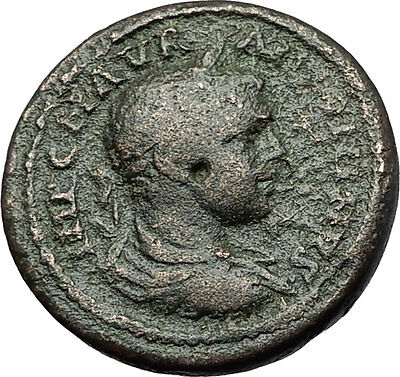 ELAGABALUS 218AD Pella Macedonia PAN SYRINX Authentic Ancient Roman Coin i59327