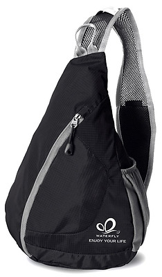 WATERFLY Packable Shoulder Backpack Chest Sport Hiking Bag Bicycle Cross