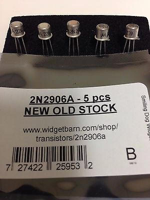 2N2906A PNP Silicon Transistor - TO-18 case - NEW OLD STOCK - 5 pcs/lot
