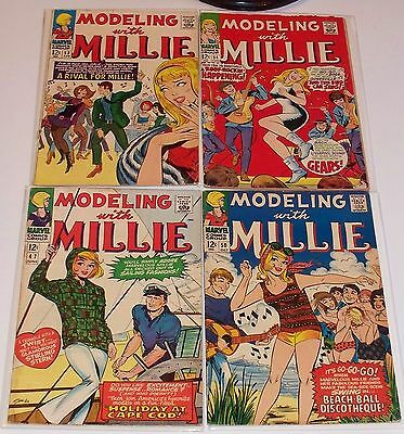MODELING With MILLIE lot of four! No.'s 47, 50, 53, and 54. GO - GO covers! LOOK
