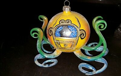 ONE OF A KIND -Free Blown Glass Ornament -Cinderella's Carriage - Poland