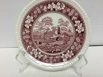 """Spode """" Pink Tower """" Bread And Butter  Plate"""