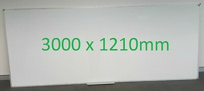 Large Magnetic Whiteboard 3000 x 1210mm Office Quality
