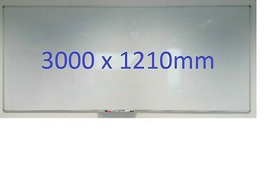 Large Magnetic Whiteboard 3000 x 1210mm Office Quality Wall Mountable