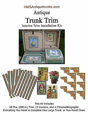 Antique Trunk Interior Trim Kit Complete Set of Reproduction Trim Style #3 *NEW*