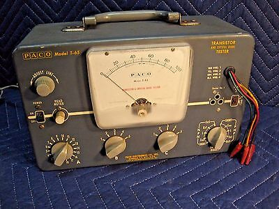 Vintage Paco Model T-65 Transistor And Crystal Diode Tester Highest Quality Usa