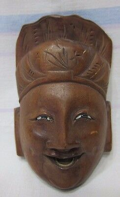 Vintage Chinese mask with glass eyes