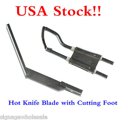 USA STOCK!! Blade with Cutting Foot for Electric Hand Held Hot Knife Cutter Tool