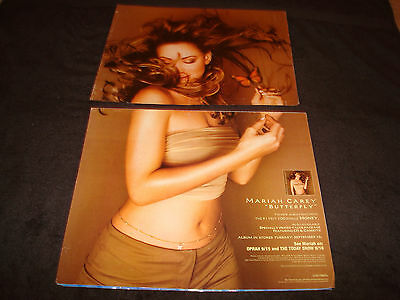 MARIAH CAREY 1997 promotional ad for hit 'Butterfly' and #1 hit 'Honey'