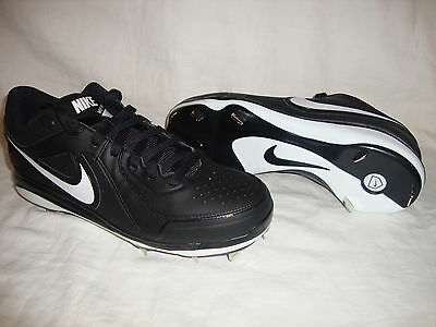 New Men's Nike 524641 MVP PRO Metal Low Baseball Cleats/Shoes Size 12 Black