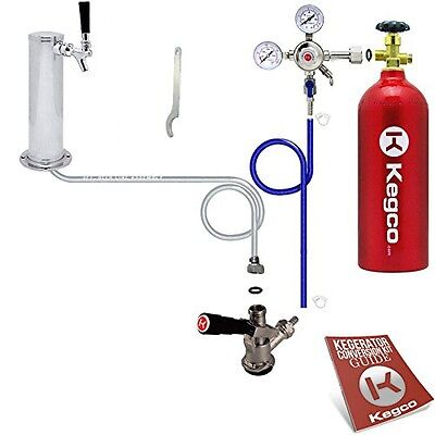 Kegco BF STCK-5T Standard Tower Kegerator Conversion Kit with 5 lb Co2 Tank,