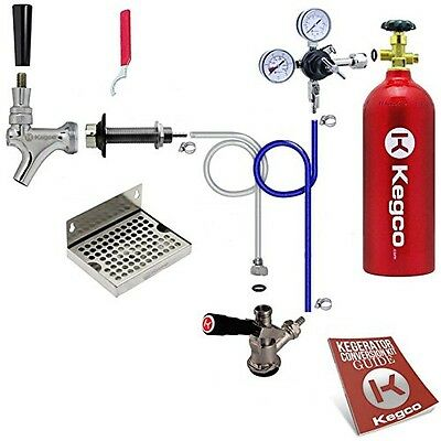 Kegco BF EBDCK-5T Deluxe Door Mount Kegerator Beer Conversion Kit with 5 lb Co2