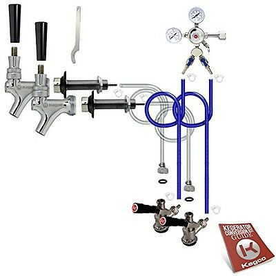 Kegco BF 2SCK Standard Two Keg Door Mount Kegerator Beer Tap Conversion Kit,