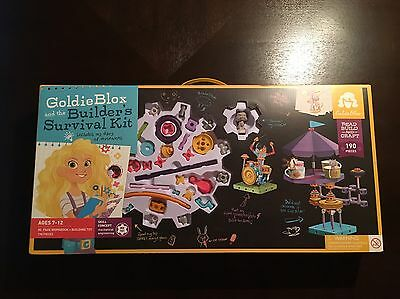 GoldieBlox And The Builder's Survival Kit. 190+ PC. Inventors Kit Toy Ages 7-12