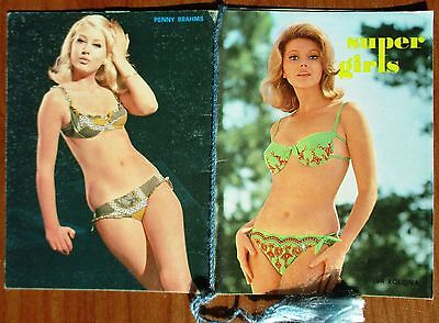 Calendarietto Da Barbiere - Anno 1969 - Super Girls - Calendario