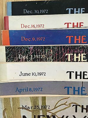Vintage The New Yorker Lot of  7 Issues from 1972