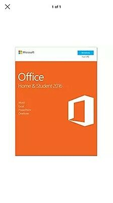 NEW Microsoft Office 2016 Home and Student Retail Pack