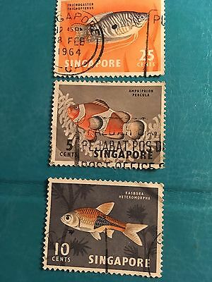 1964 Singapore Fish Stamp Collection