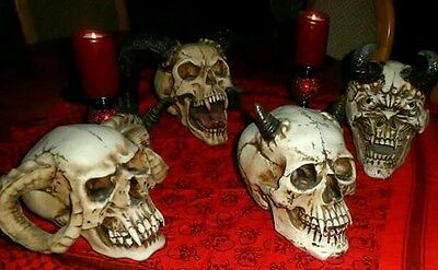 Skulls demon gothic halloween weird scary freaky horror vampire