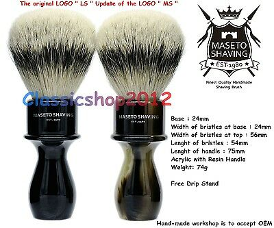 "MS - Extra Density 100% Silvertip Badger Shaving Brush-""Memphis"" - E&H 24mm Knot"