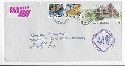 1989 GOULBURN NSW priority cover stationery uprate Living Together