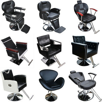 Adjustable Barber Reclining Hydraulic Salon Hair Cutting Shaving Tattoo Chair