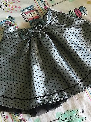 Girl Skirt Sista Size 5 Silver Party