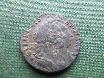 William & Mary.  1692, Farthing. Tin Issue.  Very Rare.  Excellent Condition.