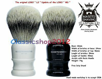 "MS - Extra Density 100% Silvertip Badger Shaving Brush-""Atlanta""-""I&B"" 24mm Knot"