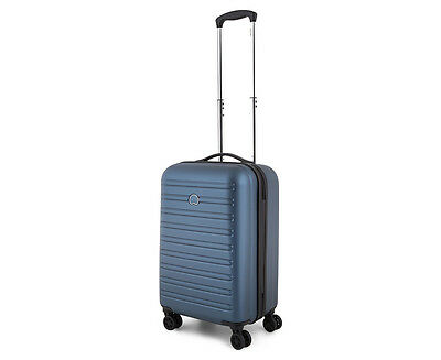 Delsey Segur 4-Double Wheel 55cm Hardcase - Blue