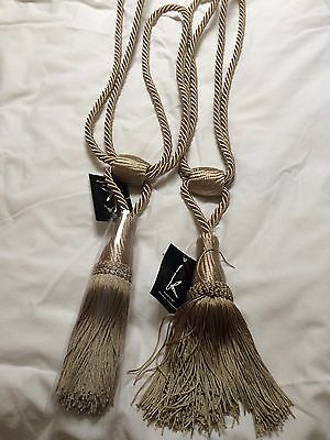 Cream/Beige Rope Curtain Tie Back With Tassel New With Tags