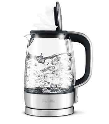 Electric Kettle Cordless Breville 1.7L Stainless Steel Water Jug Glass Automatic