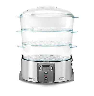 Steamer Food 3 Tier Breville Stainless Steel Cooker Electric Vegetable Cook Rice
