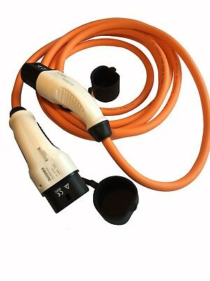 Volkswagen e-up EV Charging Cable 16amp 5m orange Type 2 to Type 2 - with case