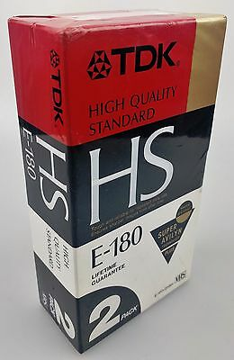 Tdk High Quality Hs E-180 Super Avilyn Plus 3 Hour Tapes 2 Pack Made In Japan