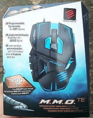 Mad Catz PC MCZ rat R.A.T. MMO TE Gaming Mouse (BLUE/ BLACK)