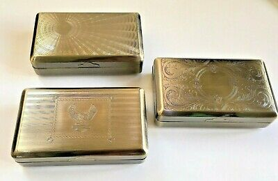 Tobacco Tin Box Case 2 oz Stainless Steel Smoking Cigarette Storage Paper Holder