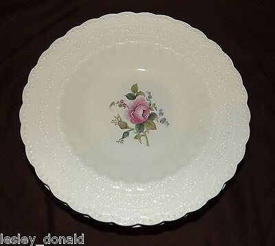 Spode Billingsley Rose 20cm Shallow Rimmed Soup/Dessert Bowl x 2 Old Backstamp