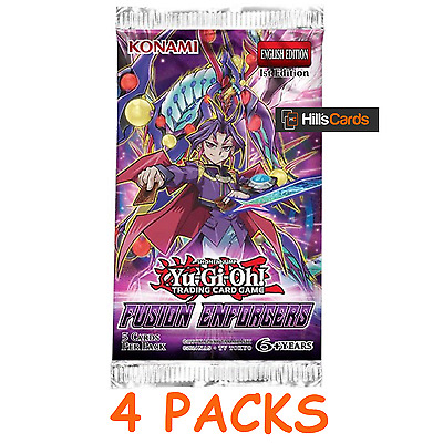 Yu-Gi-Oh Cards: Fusion Enforcers 4 Sealed Booster Packs