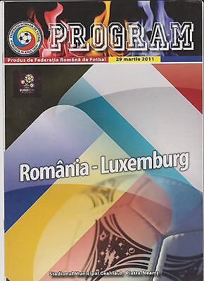 ROMANIA vs LUXEMBURG programme - 29/03/2011