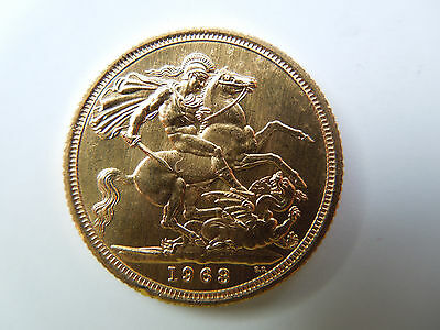 1963 22ct Full Gold Sovereign Uncirculated condition is Fine
