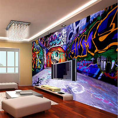 Music Graffiti Seven Full Wall Mural Photo Wallpaper Print Home Kids 3D Decal