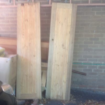 Vintage Antique Solid Wood French Doors Pair