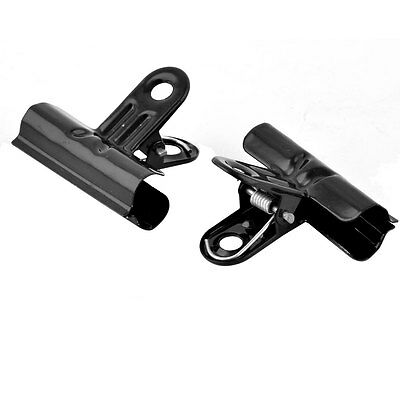 School Office Metal Spring Loaded File Ticket Clamps Paper Binder Clip 2 PCS