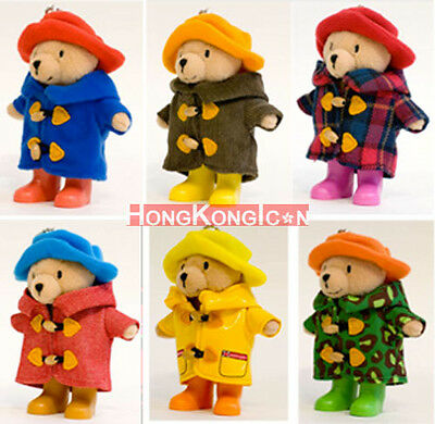Paddington Bear 7-Eleven Hong Kong World Travel Diary Plush Teddy Doll Set of 6